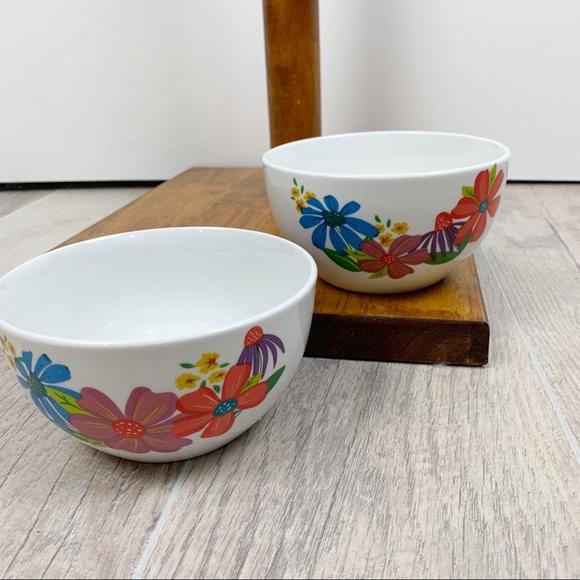 Other - Royal Norfolk Floral Cereal Glass Kitchen 2 Bowls
